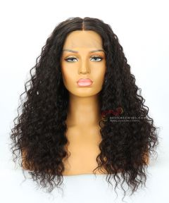 "20"" 130% Density Deep Wave Brazilian Virgin Hair Lace Front Wig[CWS172]"