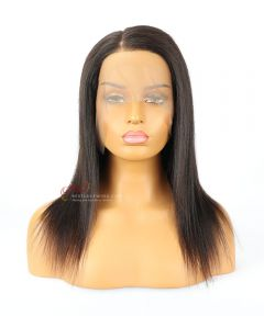 """Small Size-16"""" 150% Yaki Straight High Quality Brazilian Virgin Hair Pre-Bleached 360 Lace Frontal Wig[CWS175]"""