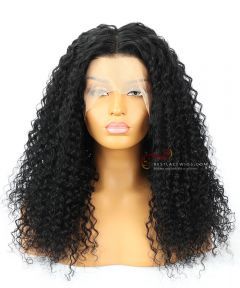 """16&24"""" Pre-Plucked 360 Lace Frontal Wig High Quality Brazilian Virgin Hair 1# 180% Density Water Wave[CWS177]"""