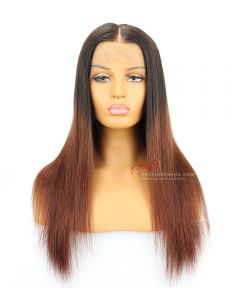 """18"""" Ombre Color 130% Density Silky Straight Brazilian Virgin Hair Lace Front Wig[CWS183]"""