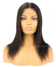 10&12in 180% Density Silk Top 360 Lace Wigs  Silky Straight Indian Remy Hair [CWS001D]