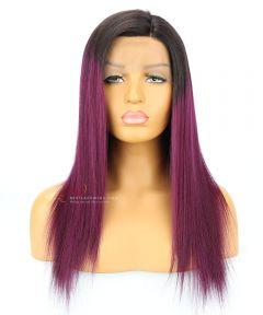 """Old Hairline-16"""" Ombre Color High Quality Silky Straight Brazilian Virgin Hair Lace Front Wig[CWS186]"""