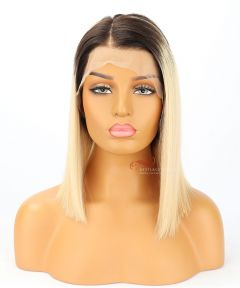 12in Ombre Silky Straight BOB Brazilian Virgin Hair Full Lace Wig [CWS161]