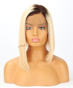 10in Ombre 130% Straight BOB Brazilian Virgin Hair Full Lace Wig [CWS168]