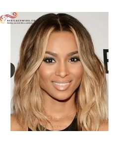 Three Tones Ombre Ciara Lace Wigs With Wavy Virgin Brazilian Hair [OSW016]