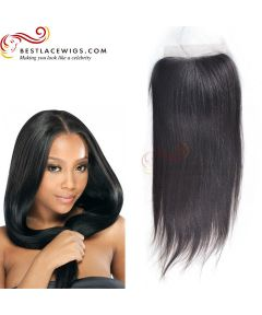 Lace Closure Straight Hair Virgin Peruvian Hair [PSC01]