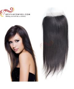 Silky Straight Brazilian Virgin Hair Lace Closure [TCB11]