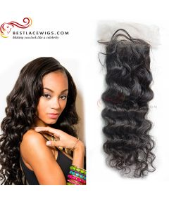 Deep Wave Virgin Brazilian Hair Lace Closure [TCB14]
