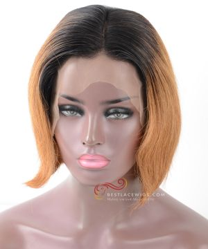 Pre-Plucked 13X6 Lace Frontal Wig 1#/30# Straight BOB Style [BOB021]