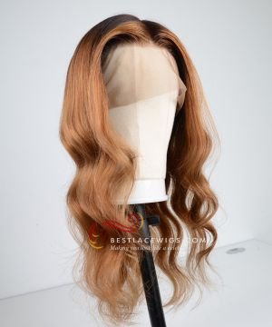 Ombre Color Pre-Plucked 360 Lace Frontal Wig Brazilian Virgin Hair [GLW004]