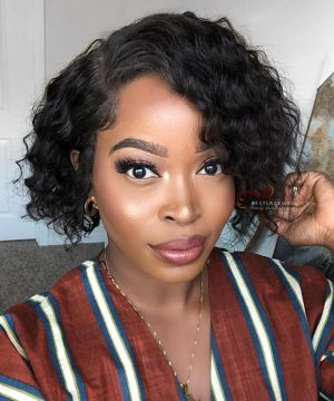 Pre-Plucked 13x6 Lace Frontal Wig Loose Wave BOB Hairstyle [BOB022]