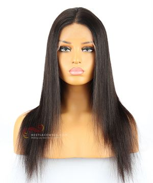 180% Density Silky Straight Silk Top 360 Lace Wigs Indian Remy Hair [GLW001D]