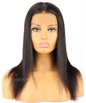 180% Density Silky Straight Indian Remy Hair 360 Lace Wigs [CWS001]