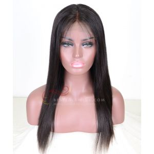 Silky Straight Brazilian Virgin Hair Glueless Full Lace Wigs [BSW001]
