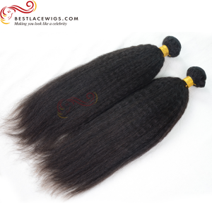 Kinky Straight Virgin Indian Hair Weaves 2 Bundles [BS101]