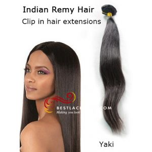 Clip In Hair Extensions Indian Remy Hair Yaki Hair [CLIP12]