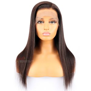 Light Yaki Chinese Virgin Hair Glueless Lace Front Wigs [SW095]