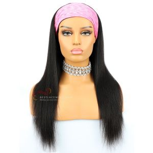 Yaki Straight Indian Remy Hair Headband Wigs [HB002]