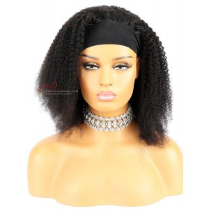 Kinky Curly Indian Remy Hair Headband Wigs [HB018]