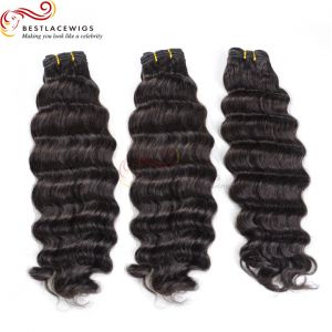 3 Bundles Deep Wave Indian Remy Hair Weaves [BS022]