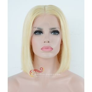 Pre-Plucked 13x6 Lace Frontal Wig 613# Straight BOB Hairstyle 180% Density [BOB613]