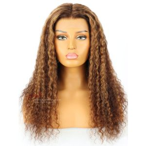6in Part #2/30 Highlight Deep Wave Lace Front Wig Transparent Lace [GSW230]