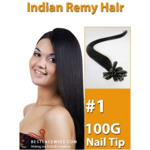 Nail Tip/U Tip Indian Remy Hair Extensions 100 Strands 100G [UT001]