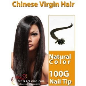 Nail Tip/U Tip Virgin Hair Extensions 100 Strands 100G [UT005]