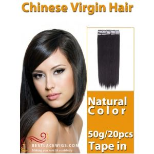 Tape In Virgin Chinese Hair Extensions 50G [TE001]