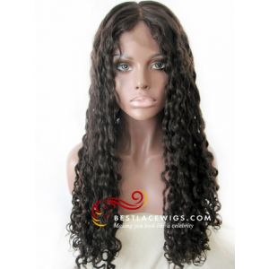 Full Lace Wigs With Wavy Chinese Virgin Human Hair [SW050]
