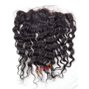 13x4in Deep Wave Indian Remy Hair Lace Frontal [LF07]