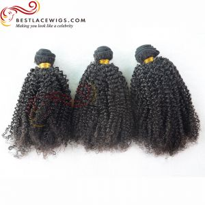 Brazilian Virgin  Hair 3pcs Kinky Curl Hair Weaves [BS049]