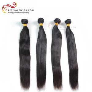 Unprocessed Virgin Brazilian Hair 4Pcs Silky Straight Hair Weaves [BS063]