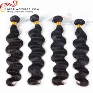4 Bundles Virgin Brazilain Hair Weaves Body Wave Hair Extensions [BS065]