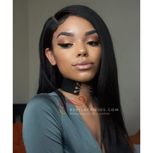 130% Density Pre-Plucked 360 Frontal Wig Silky  Straight Indian Remy Hair [GLW011]