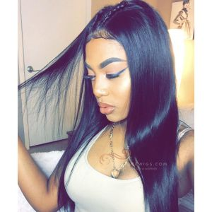Heavy Density Silky Straight Brazilian Virgin Hair 360 Lace Wigs [GLW013]