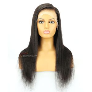 Pre-Plucked 6in Part Transparent Lace Silky Straight Lace Front Wigs[GSW080]