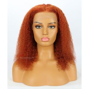 6in Part Orange Curly Style Lace Front Wig Transparent Lace [GSW306]