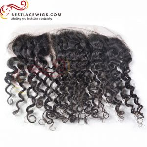 12X2in Lace Frontal Indian Remy Hair Water Wave [LF28C]