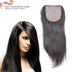 Silky Striaght Hair Silk Base Closure Indian Remy Hair [STC01]