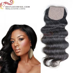 Silk Base Closure Indian Remy Body Wave Hair [STC03]