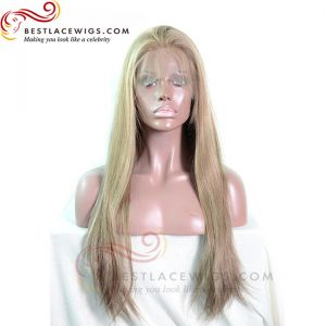 11# Mixed 8# 27# Highlight Silky Straight Chinese Virgin Hair Glueless Full Lace Wigs[SW042]