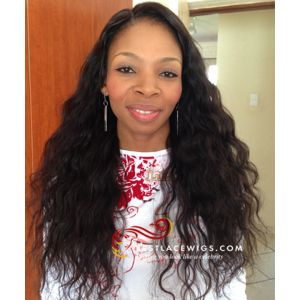 Body Wave Chinese Virgin Hair Lace Front Wigs [SW091]
