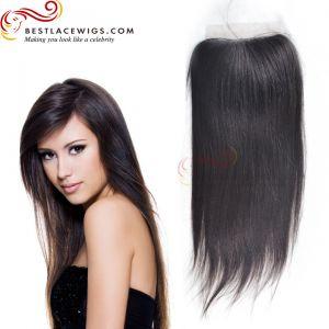 Silky Straight Brazilian Virgin Hair Lace Closure [TCB11]