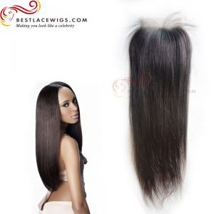 Virgin Brazilian Hair Lace Closure Yaki Hair [TCB12]