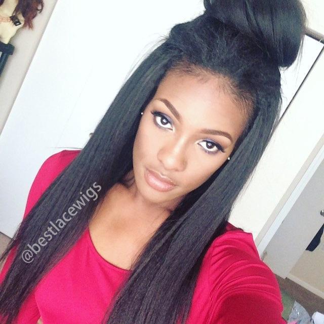 Virgin Brazilian Hair Bundle Sale 3Pcs Kinky Straight Hair Extenisons [BKW11]
