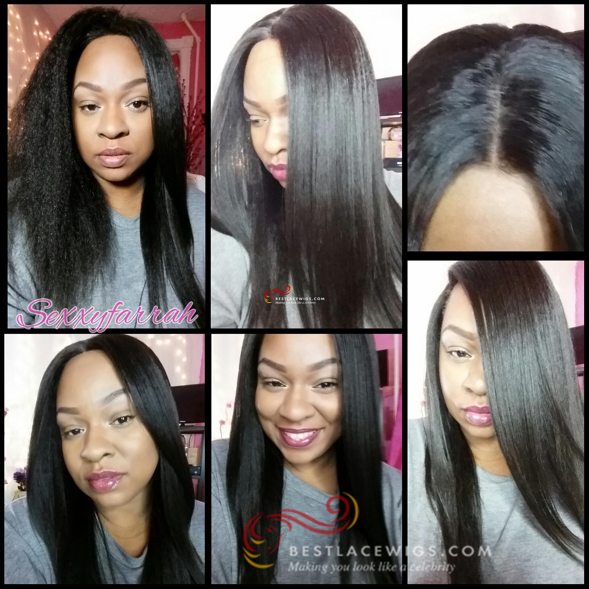Virgin Human Hair Glueless Lace Wigs Kinky Straight Hair