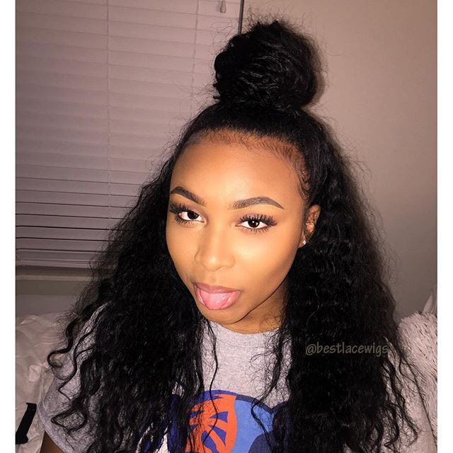 Human Virgin  Lace Front Wigs With Deep Wave Hair [SW092]