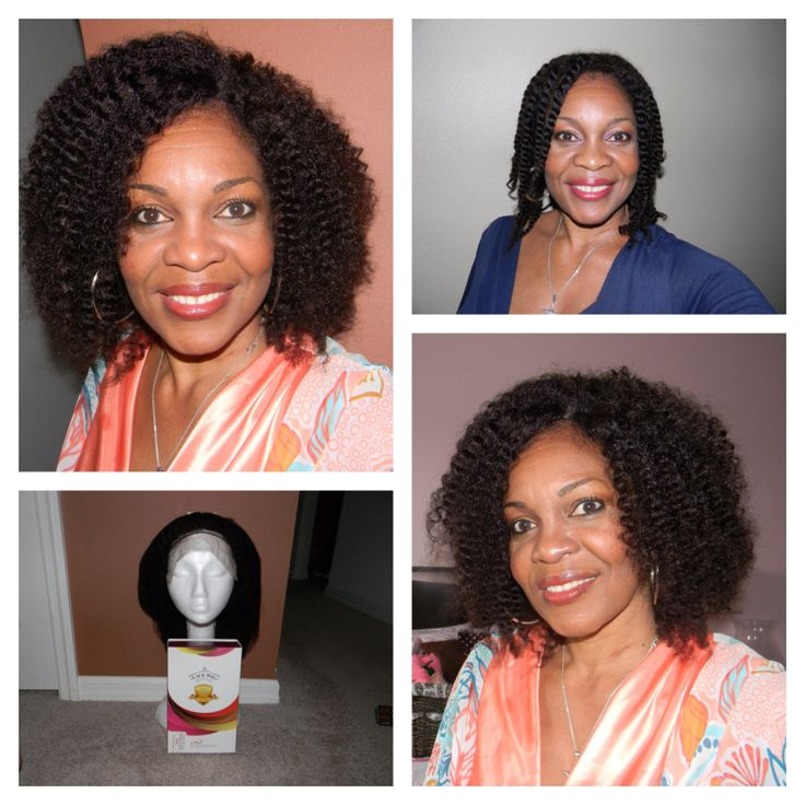 Afro Kinky Curly Indian Remy Hair Full Lace Wigs For African