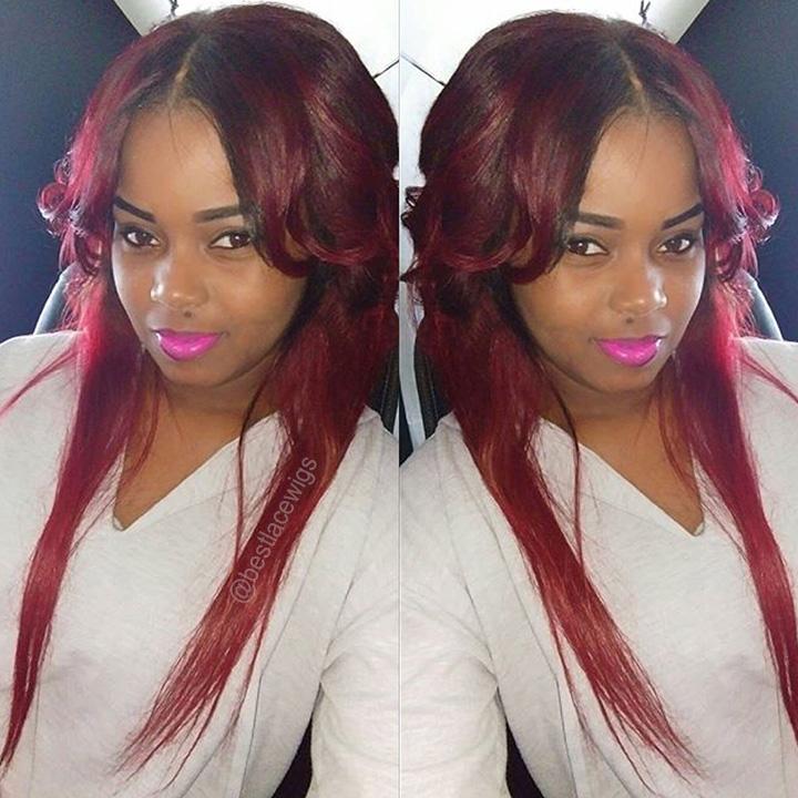 Glueless Full Lace Wigs Virgin Human Hair Malika Haqq Hair Style [GSW301]